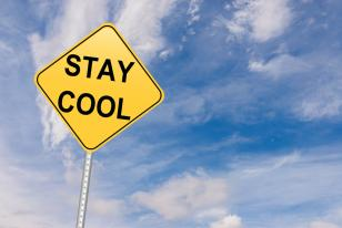 stay cool road sign